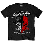 Five Finger Death Punch Men's Tee: Jekyll & Hyde