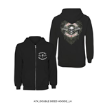 Avenged Sevenfold Men's Hooded Top: Logo Flourish