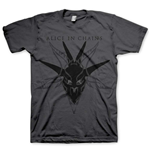 Alice in Chains Men's Tee: Black Skull