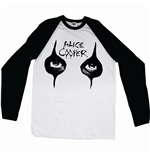 Alice Cooper Men's Raglan/Baseball Tee: Eyes