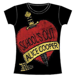 Alice Cooper Women's Skinny Fit Tee: School's Out