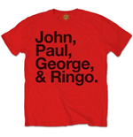 The Beatles Men's Tee: John, Paul, George & Ringo