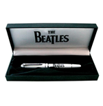 The Beatles Patch Gift Pen Set: Drop T & Apple Logo (White)