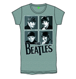 The Beatles Women's Foiled Tee: Framed Faces