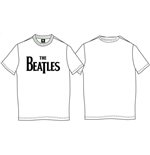 The Beatles Men's Tee: Drop T Logo