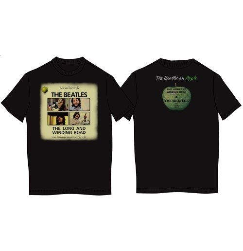 The Beatles Men's Back Print Tee: Long & Winding Road