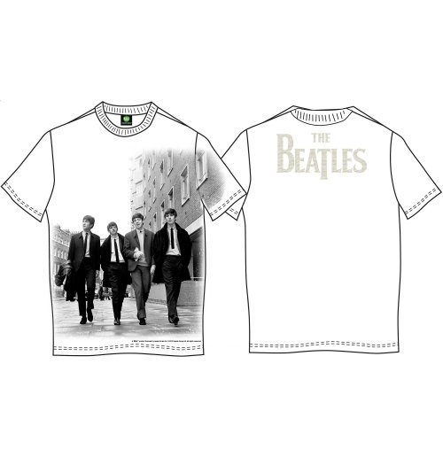 The Beatles Men's Back Print Tee: Walking in London