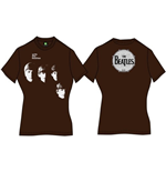The Beatles Women's Back Print Tee: With the Beatles