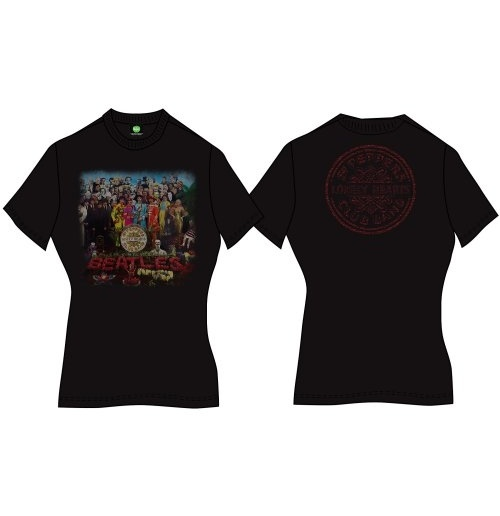 The Beatles Women's Back Print Tee: Sgt Pepper