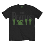 The Beatles Men's Tee: Saville Row Lie Up with White Silhouettes