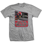 Star Wars Men's Tee: Episode VII Dameron Vintage