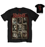 Slipknot Men's Back Print Tee: New Masks