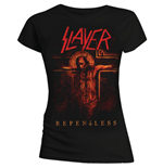 Slayer Women's Tee: Repentless Crucifix