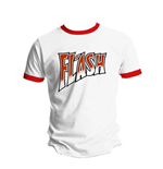 Queen Men's Tee: Flash White and Red Ringer