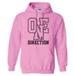 One Direction Women's Hooded Top: Athletic Logo