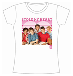 One Direction Women's Skinny Fit Tee: 1D Stole My Heart