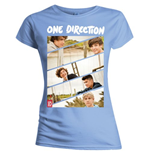 One Direction Women's Skinny Fit Tee: Band Sliced