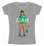 One Direction Women's Skinny Fit Tee: Liam Standing Pose