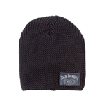 JACK DANIEL'S Unisex Old No.7 Brand Woven Beanie, One Size, Dark Grey