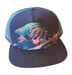 NINTENDO Legend of Zelda Unisex Link Close-up Trucker Baseball Cap, One Size, Black