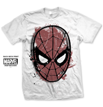 Marvel Comics Men's Tee: Spidey Big Head Distressed