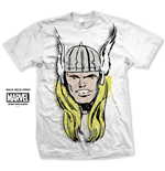 Marvel Comics Men's Tee: Thor Big Head Distressed