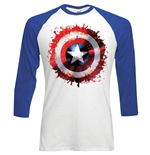 Marvel Comics Men's Raglan/Baseball Tee: Captain America Splat
