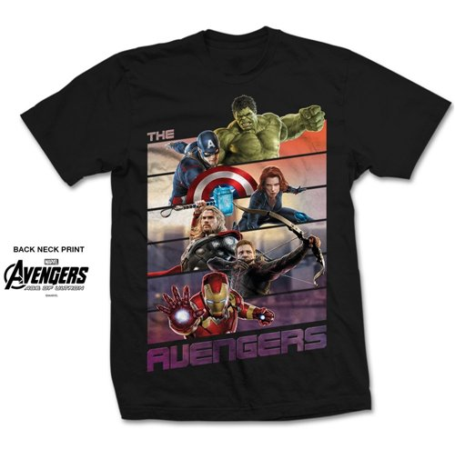 Marvel Comics Men's Tee: Avengers Bars