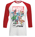 Marvel Comics Men's Raglan/Baseball Tee: Marvel Montage