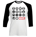 Marvel Comics Men's Raglan/Baseball Tee: Marvel Icons