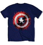 Marvel Comics Men's Tee: Captain America Splat Shield