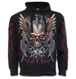 Maced Skull - Side Pocket Hoody Black
