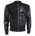 Death Rage - Bomber Jacket with PU Leather Sleeves