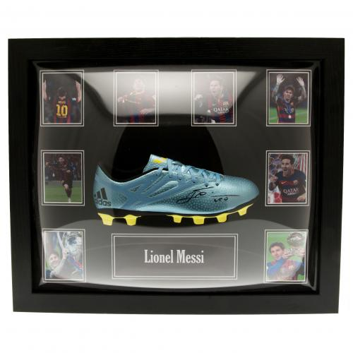 F.C. Barcelona Messi Signed Boot (Framed)