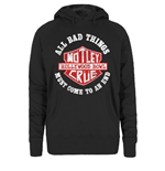 Motley Crue Women's Hooded Top: Bad Boys Shield