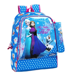 Frozen (Blue) backpack 33 with pencil case