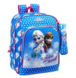 Frozen (Blue) backpack 31 with pencil case