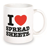 I Love Spreadsheets Mug