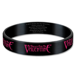 Bullet For My Valentine Rubber Bracelet - Logo