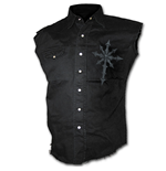 Darkness - Sleeveless Stone Washed Worker Black