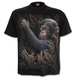 Monkey Business - Front Print T-Shirt Black