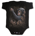 Monkey Business - Baby Sleepsuit Black