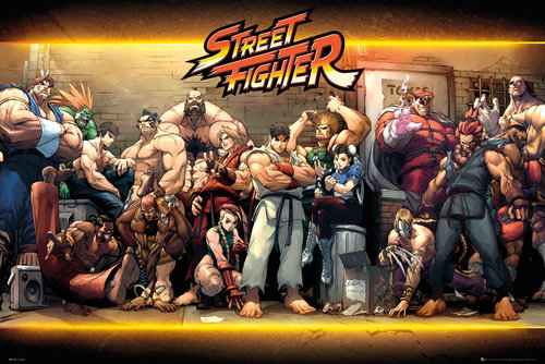 Street Fighter Characters Maxi Poster