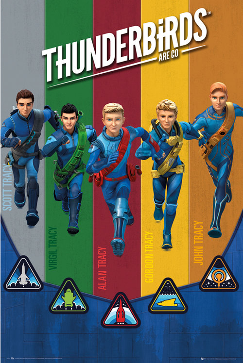 Thunderbirds Are Go Team Maxi Poster