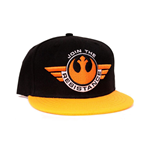 STAR WARS VII The Force Awakens Join the Resistance Snapback Baseball Cap, Black/Orange