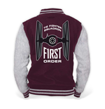 STAR WARS VII Men's The Force Awakens The First Order College Jacket, Medium, Burgundy/Grey Melange