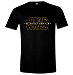 STAR WARS VII Men's The Force Awakens Main Logo T-Shirt, Large, Black