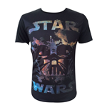 STAR WARS Adult Male Darth Vader All-Over T-Shirt, Medium, Black