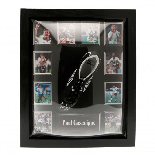England F.A. Gascoigne Signed Boot (Framed)