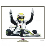 Jenson button Back to the Future Print by Martin Bunnett